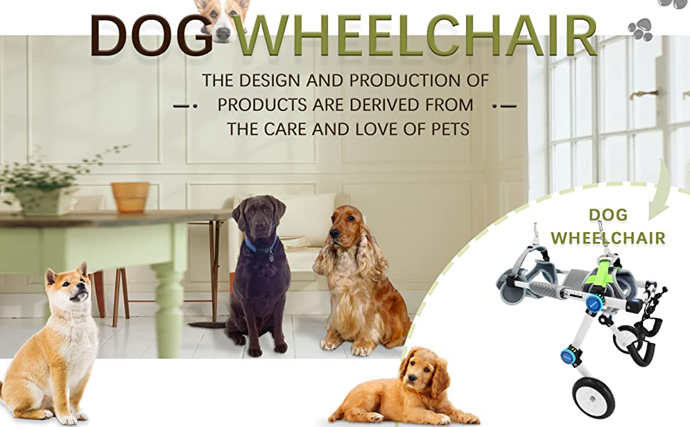 HobeyHove Foldable Dog Wheelchair for back legs