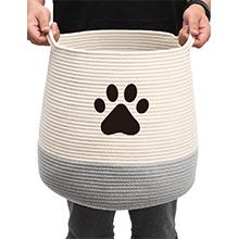 round dog basket