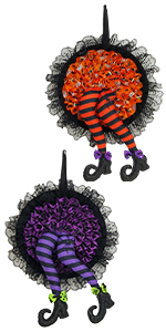 Halloween Witch Legs Wreaths Decorations