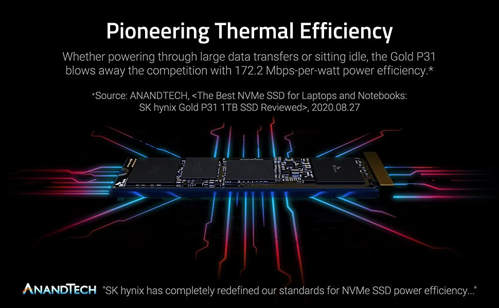 Gold P31 SSD cooling a motherboard with thermal efficiency.