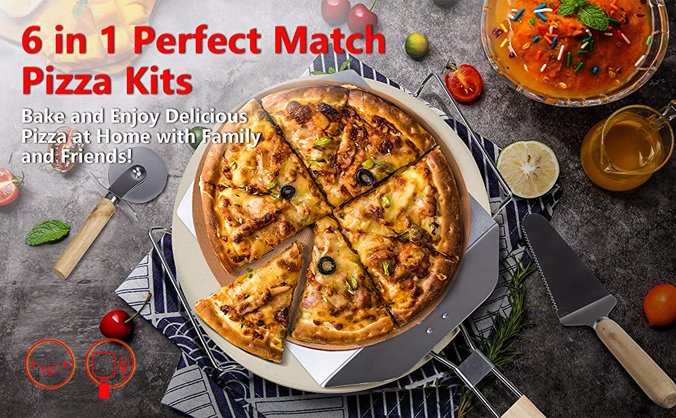 Pizza Grilling Set for Oven and Grill