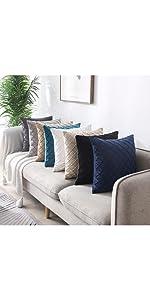 rhombus velvet pillow covers