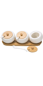 ceramic storage jars jar with lid salt and pepper bowls condiment containers lids