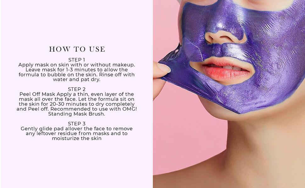 Facial Mask Kit Detoxify Revitalize Antioxidant Moisturizer with Blueberry, Blackberry and Collagen