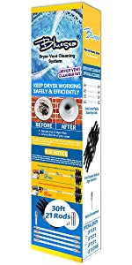 30 Feet dryer vent cleaning kit