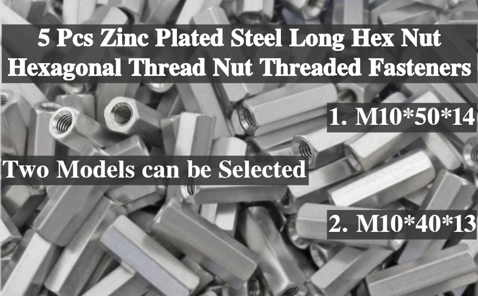m10 long threaded nuts