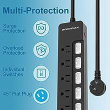 surge protector power strip mountable ETL Listed Multi Protection Overload protection ANKER bestek