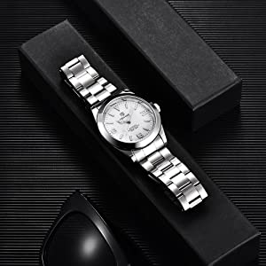 Waterproof Analogue Automatic Watch Mechanical with Stainless Steel Strap 5177