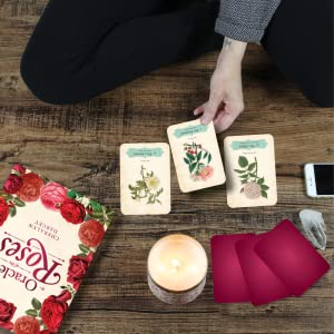 oracle of the roses cards being used