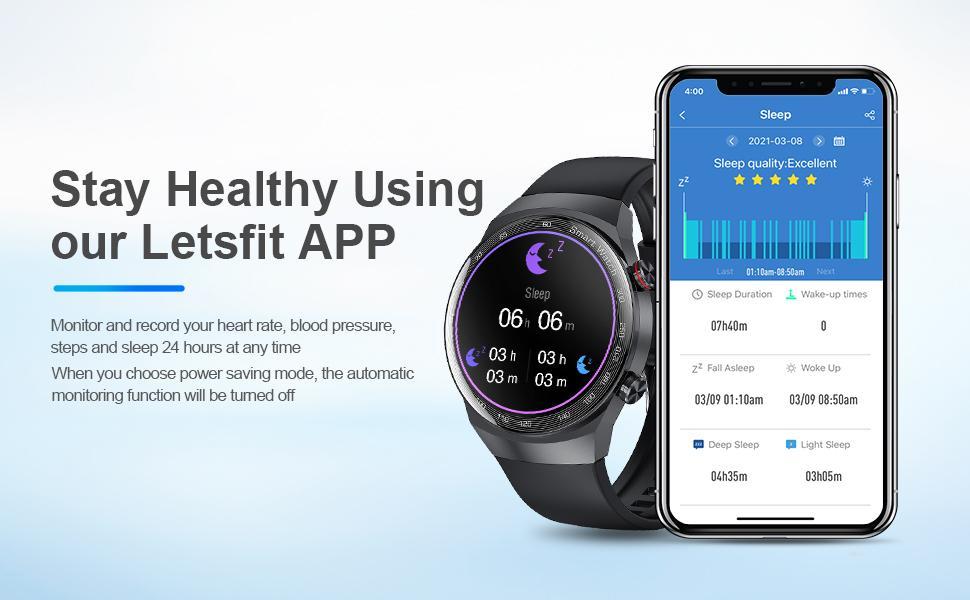 Fitness Tracker with Sleep Monitor