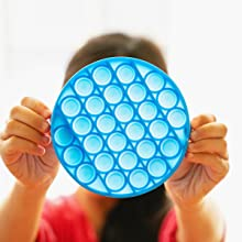 fidget pop it school supplies toy push pop bubble sensory silicone rainbow big square
