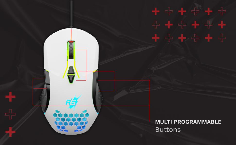 Redgear, Gaming Mouse, A-15, Redgear A-15, Redgear Gaming mouse, Mouse, LED, PC