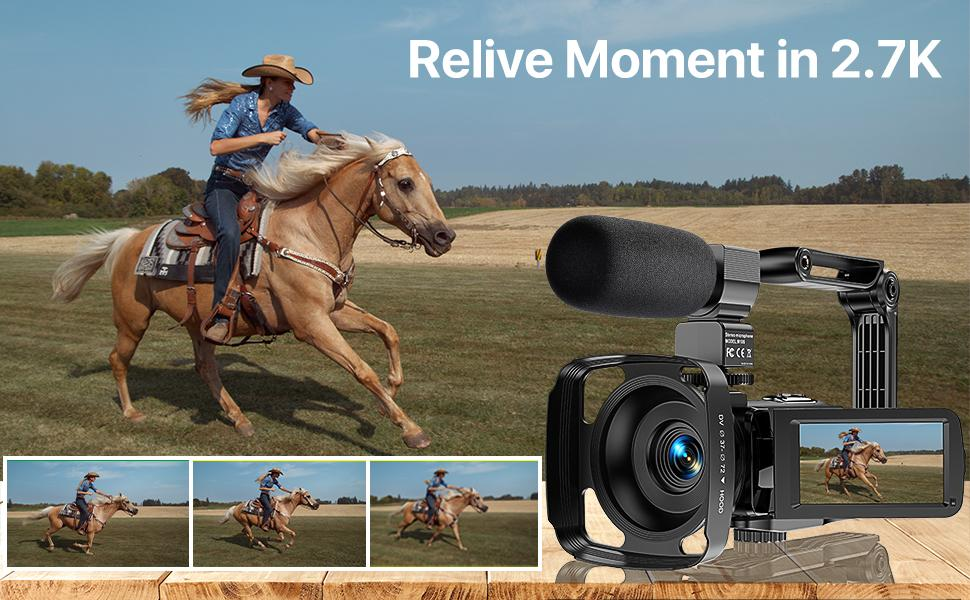 Relive Moments in 2.7K Video Camera Camcorder