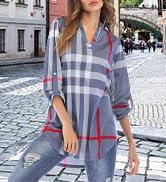 Womens Blouse Shirt Casual Tunic Tops