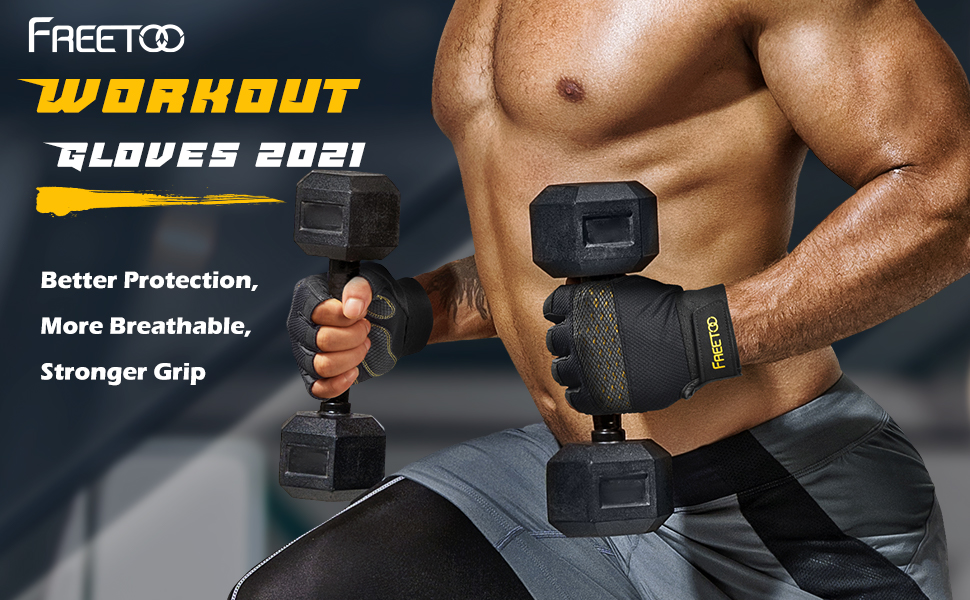 workout gloves 2021 for men, better protection, more breathable, stronger grip