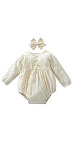 baby girl clothes beige romper