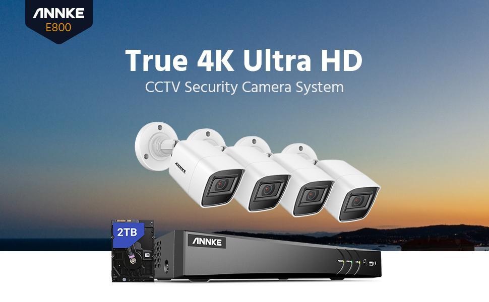 4K surveillance  camera system