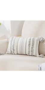 grey boho throw pillow covers