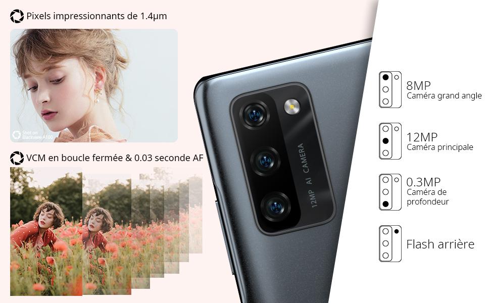 smartphone pas cher blackview A100 android 11 telephone portable 4G portable pas cher