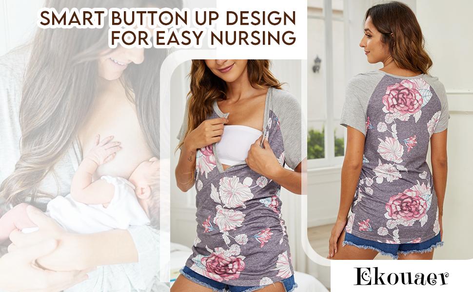 women breastfeeding shirt for nursing