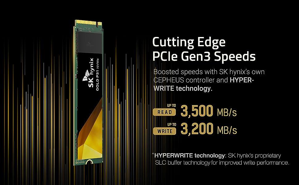 Cutting Edge PCle Gen3 Speeds