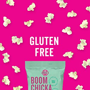 : Angie's BOOMCHICKAPOP kettle corn is a delicious gluten free snack