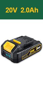 20V MAX 2.0 Ah Battery-Pack