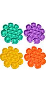 flower pop fidget 4 pack
