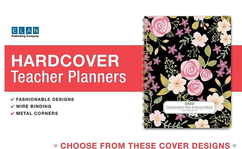 Hardcover Teacher Planner Options