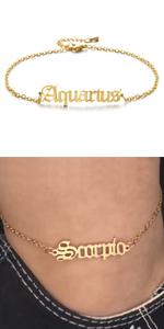 Constellation Anklet Zodiac Anklet zodiac Sign Anklet Bracelet ankle bracelets for women