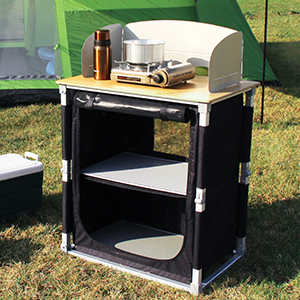 Instant Bamboo Cooking Table for lawn party