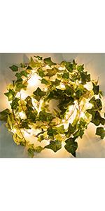 72 LED string lights with vines