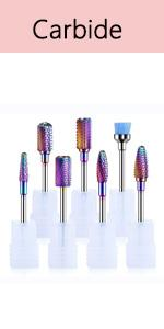 MelodySusie Nail Drill Bits, Professional Tungsten Carbide Drill Bits Set