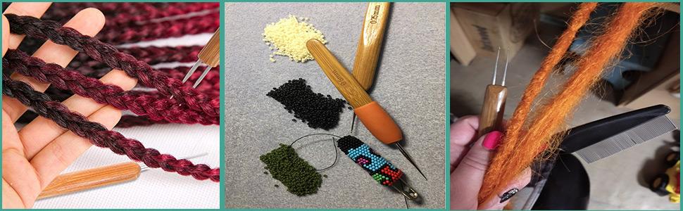 dread crochet needle
