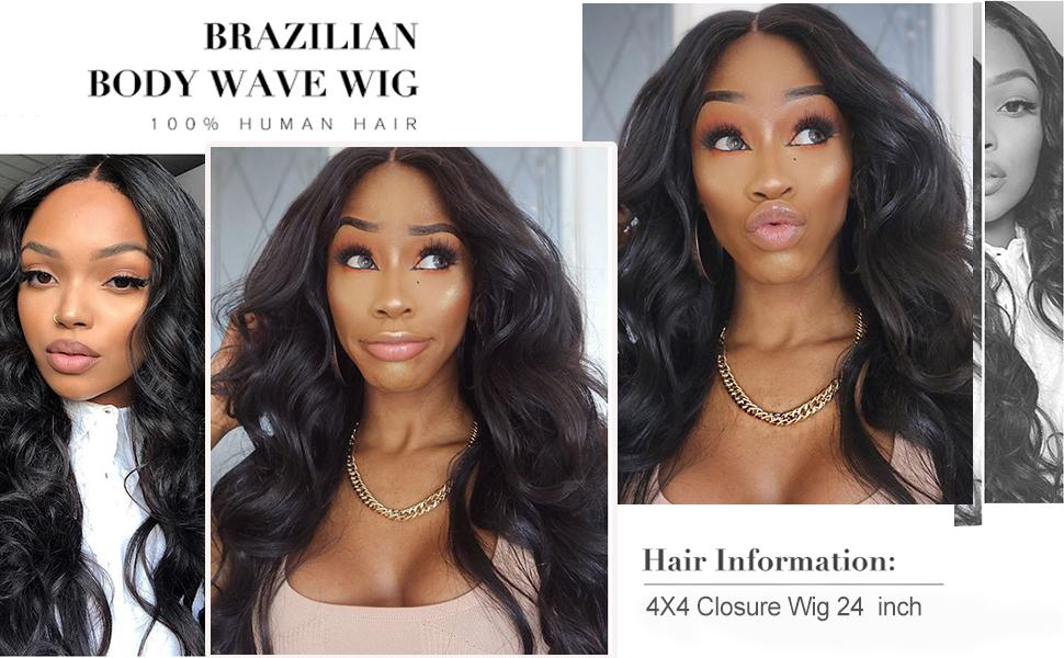 body wave wig human hair