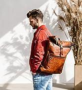Berliner Bags Vintage Lederrucksack Utrecht XL