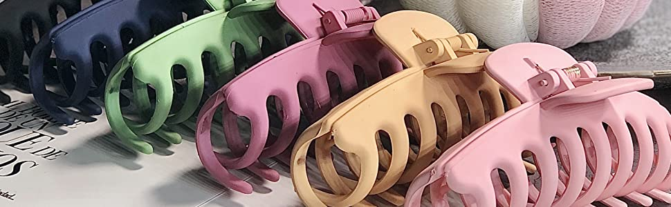 4.3″ Matte Large Hair Claw Clips