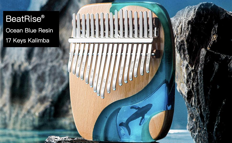ocean blue resin kalimba