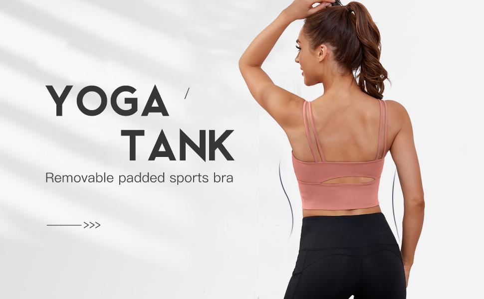 Women Racerback Sports Bras Camisole Medium Impact Workout Gym Activewear Yoga Tank Top