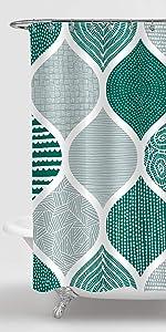 Gibelle Green Boho Shower Curtain