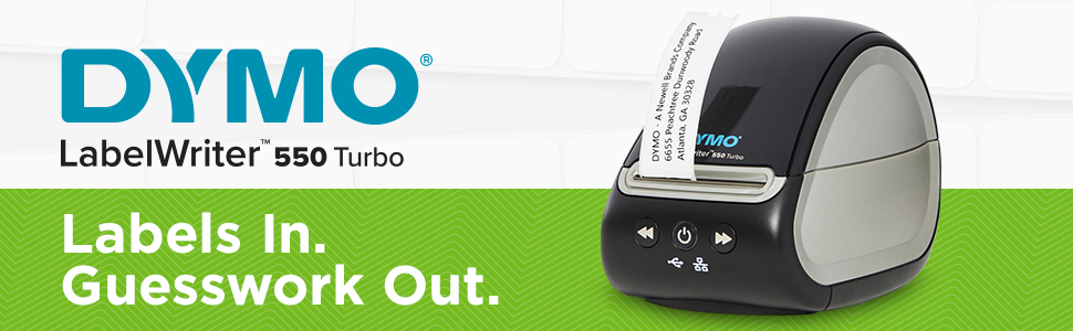 DYMO LabelWriter 550 Turbo: Labels In, Guesswork out
