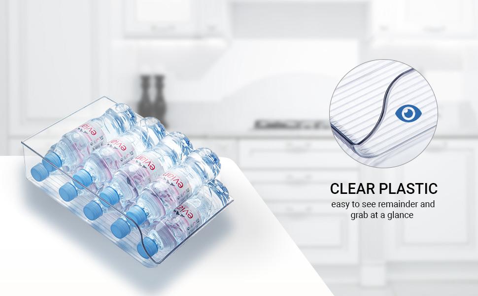 Water Bottle Storage clear plastic