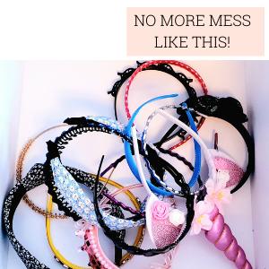 No More Messy Headbands with a Headband Storage