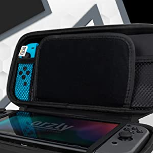 Orzly Protective travel carrying carry case accessory for Nintendo Switch OLED console accessories