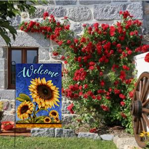 Hzppyz Sunflower Garden Flag
