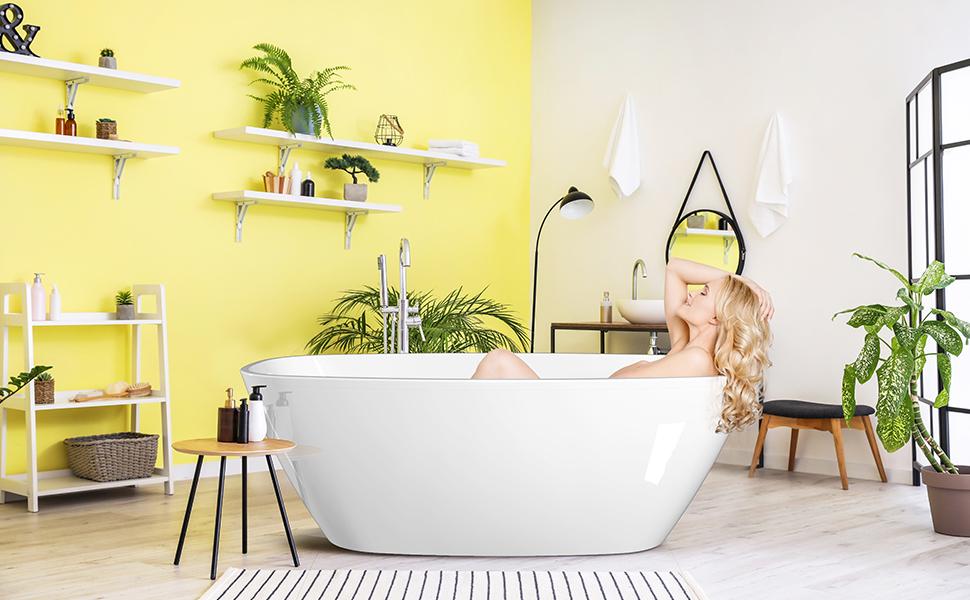 extra deep freestanding soaking bathtubs