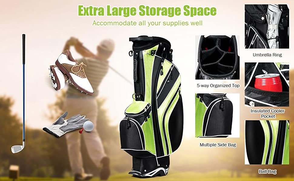 Multiple pocket and spacious storage