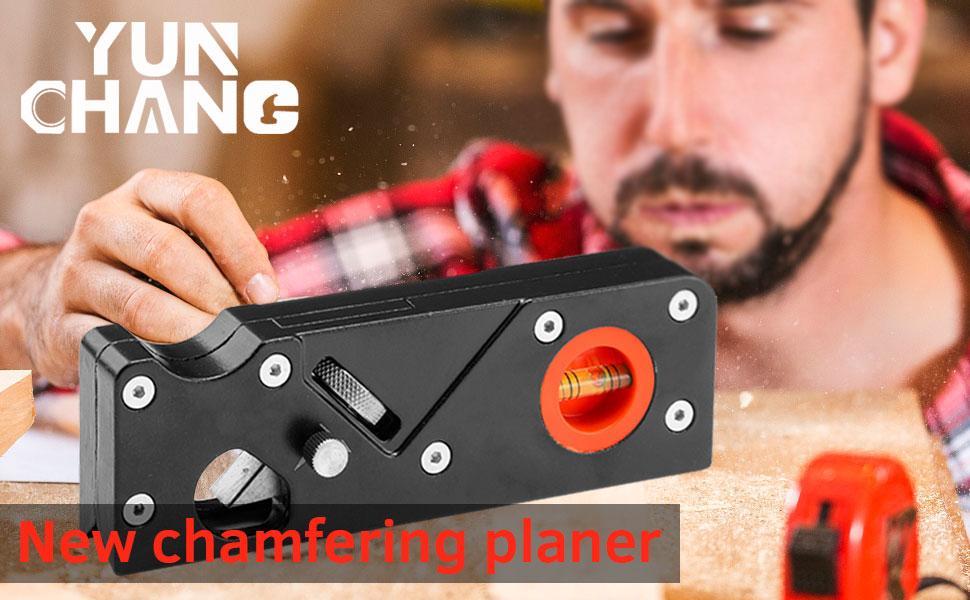 YUN CHANG Chamfer Plane for Wood,Woodworking Edge Corner Flattening Tool