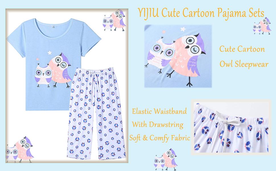 capri pajamas for women set