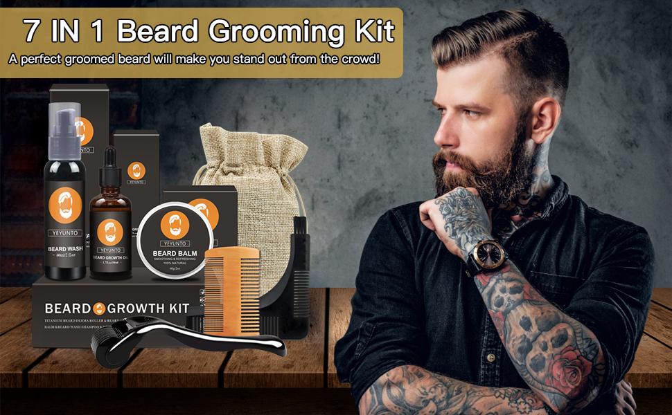 Beard Growth Grooming Kit